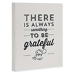 Deny Designs Grateful For 8-Inch x 10-Inch Canvas Wall Art