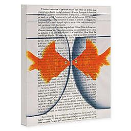 Deny Designs Goldfish Love 8-Inch x 10-Inch Canvas Wall Art