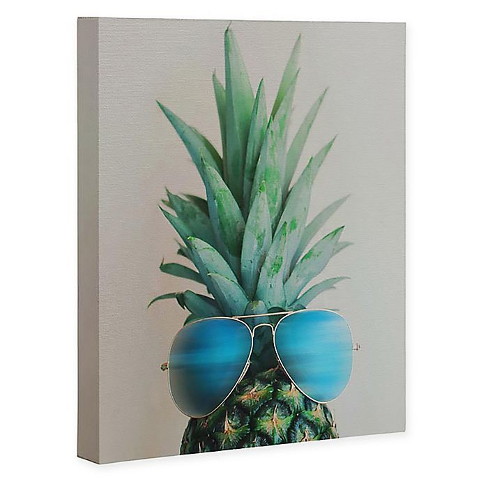 Alternate image 1 for Deny Designs Pineapple In Paradise 16-Inch x 20-Inch Canvas Wall Art in Blue
