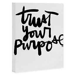 Deny Designs 8-Inch x 10-Inch Kal Barteski Trust Your Purpose Canvas Wall Art
