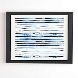 Deny Designs Indigo Ink Stripes Framed Wall Art