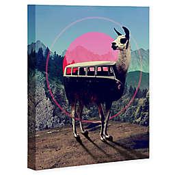 Deny Designs Llama Van 8-Inch x 10-Inch Framed Wall Art