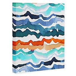 Deny Designs 8-Inch x 10-Inch CayenaBlanca Beach Waves Canvas Wall Art
