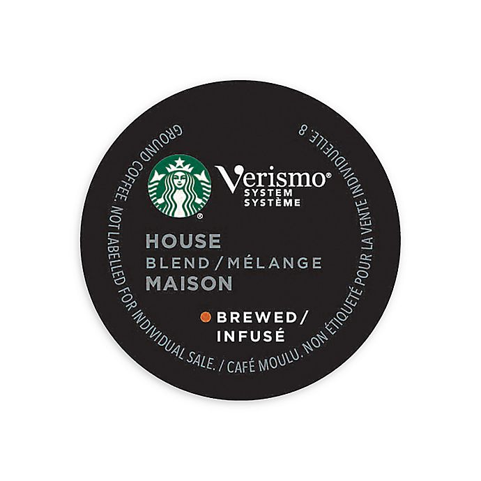 Alternate image 1 for Starbucks® Verismo™ 12-Count House Blend Brewed Coffee Pods