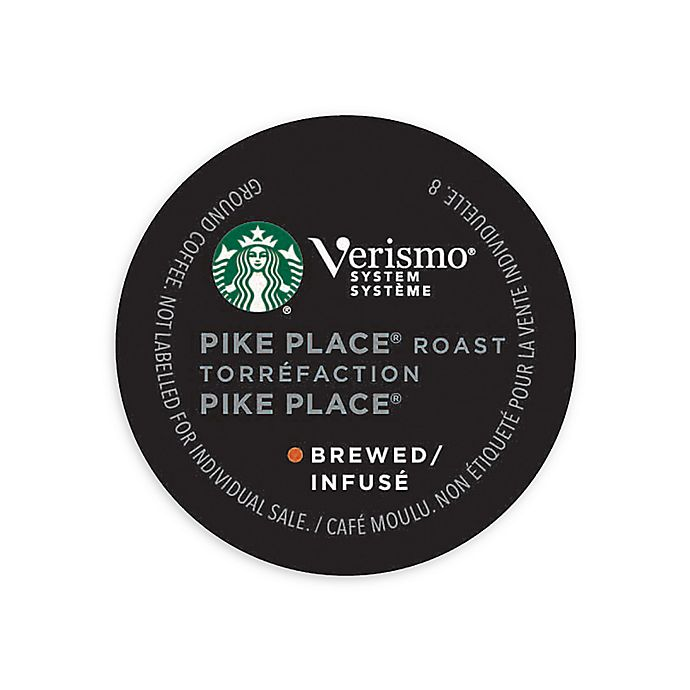 Alternate image 1 for Starbucks® Verismo™ 12-Count Pike's Place® Brewed Coffee Pods