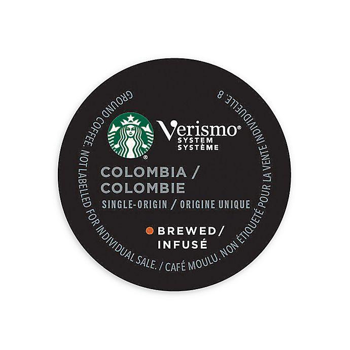 Alternate image 1 for Starbucks® Verismo™ 12-Count Colombia Single Origin Brewed Coffee Pods