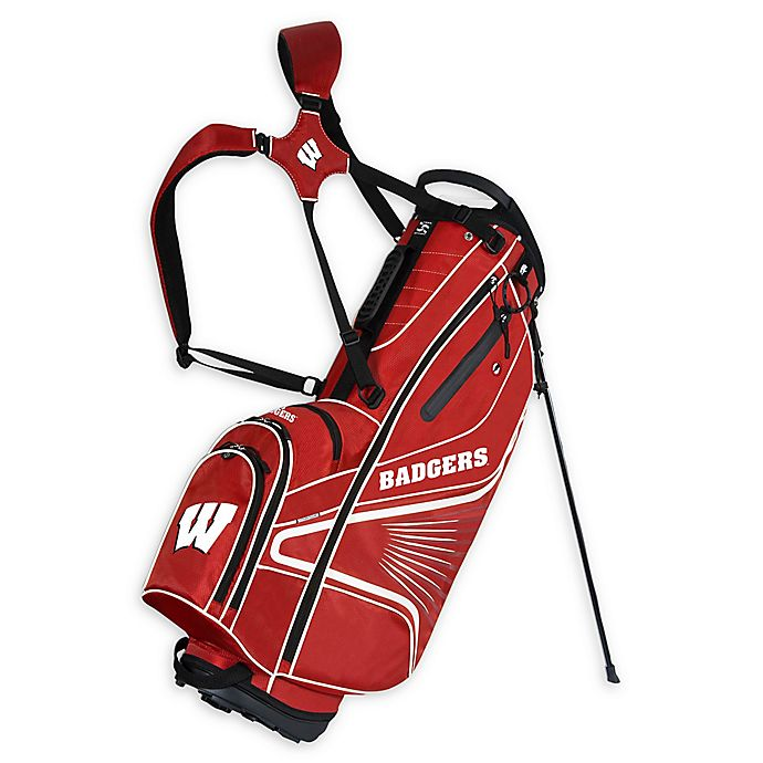 Alternate image 1 for University of Wisconsin Gridiron III Stand Golf Bag