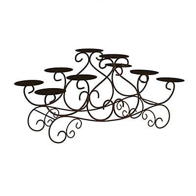 Lavish Home Elegant Swirl Candelabra in Black