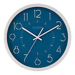 La Crosse Technology Weekender 13-Inch Wall Clock in Blue