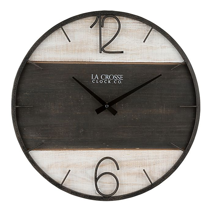 Alternate image 1 for La Crosse Technology Ironwood 15.75-Inch Wall Clock in Grey