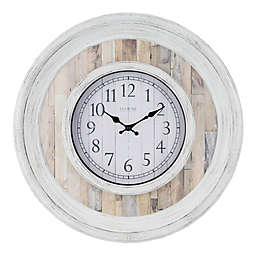 La Crosse™ Weathered 20-Inch Wall Clock in White