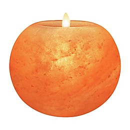 Himalayan Glow Salt Sun Globe Candle Holder