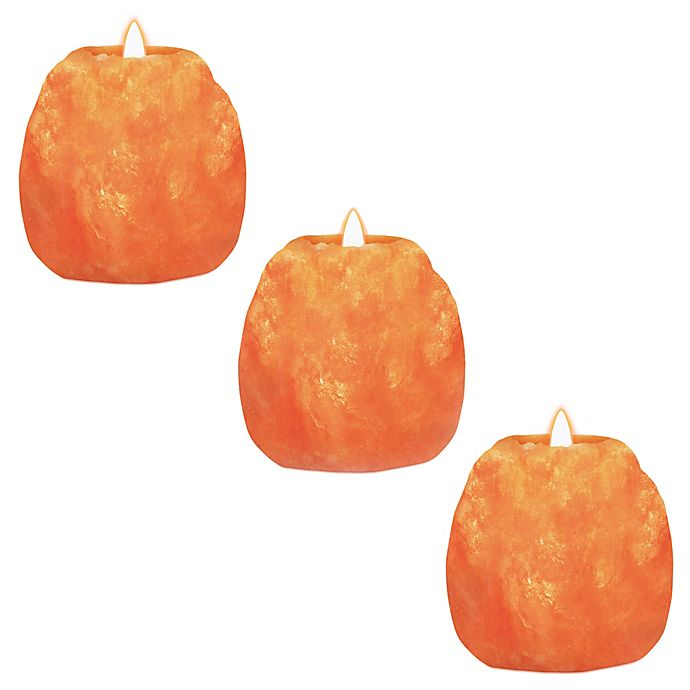 Alternate image 1 for Himalayan Glow Salt Candle Holders (Set of 3)