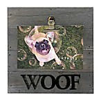 Sixtrees® Woof 4-Inch x 6-Inch Pallet Wood Clip Picture Frame in Grey