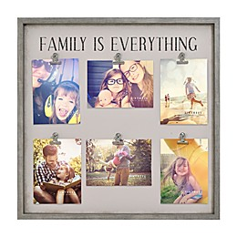 Sixtrees® Family Everything Wood 6-Clip Photo Frame