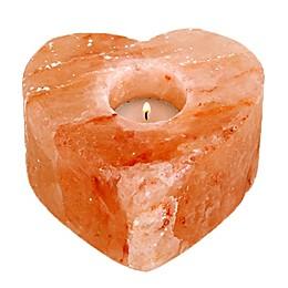Himalayan Glow Salt Heart Candle Holder