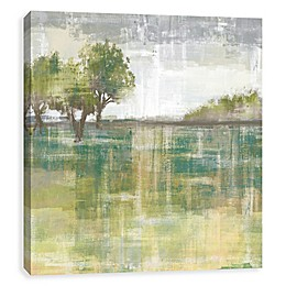 Peaceful Pastures Palette Knife 27-Inch Printed Canvas Wall Art