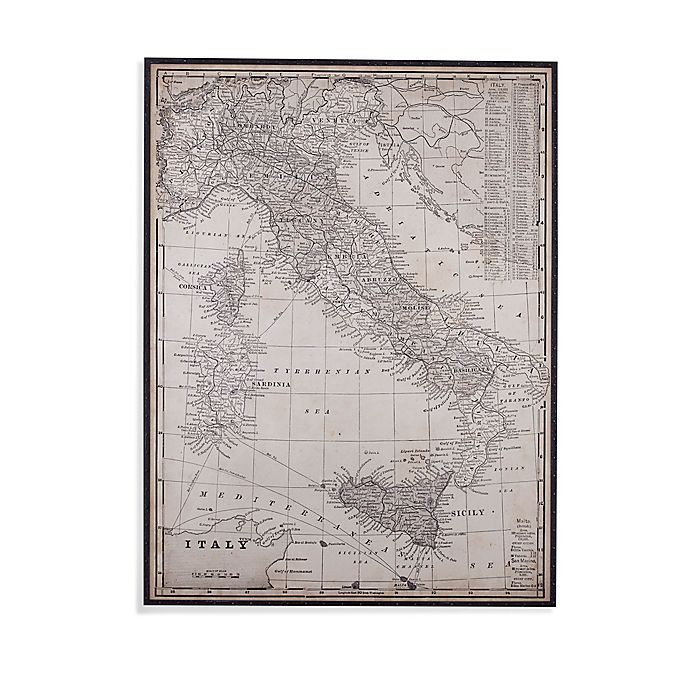 Alternate image 1 for Antique Italy Map Framed Wall Art