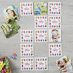 Colorful Eggs Personalized Photo Memory Game