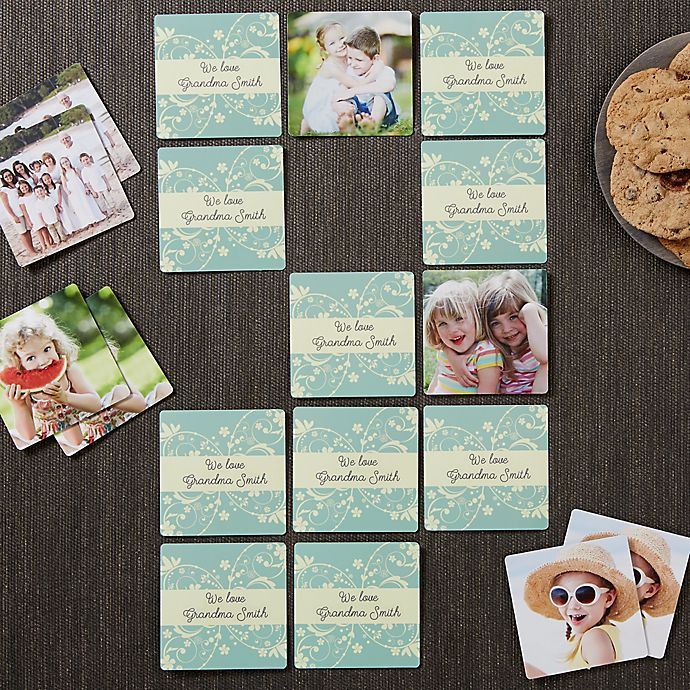 Alternate image 1 for Grandma's Game Time Personalized Photo Memory Game