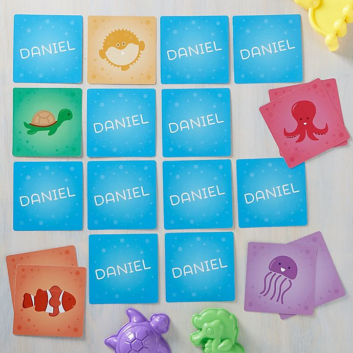 Alternate image 1 for Sea Creatures Personalized Memory Game