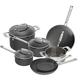 Emeril™ Essential Hard Anodized 11-Piece Cookware Set in Black
