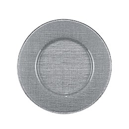 Villeroy and Boch Glass Charger Plate in Silver
