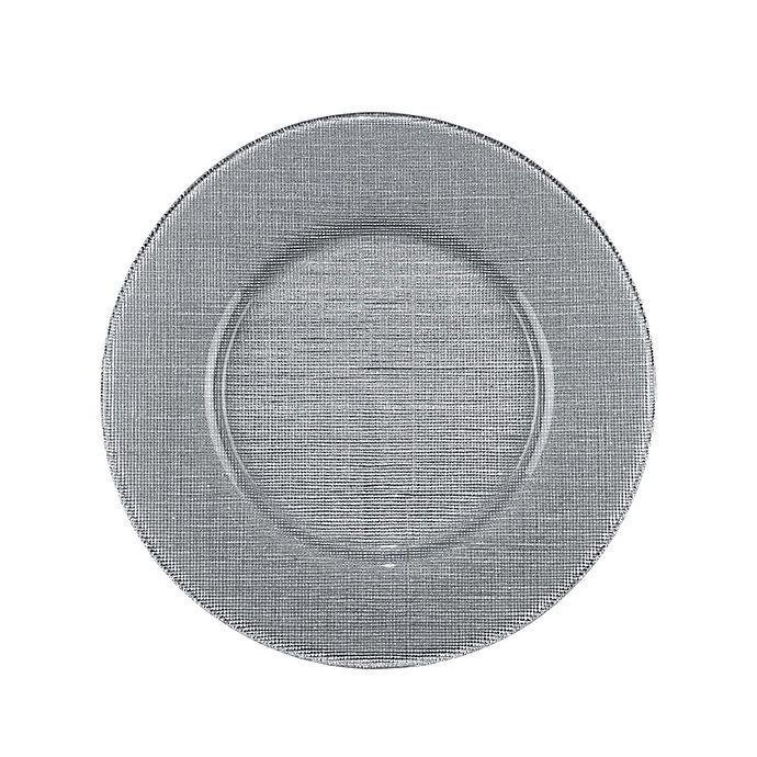 Alternate image 1 for Villeroy and Boch Glass Charger Plate in Silver