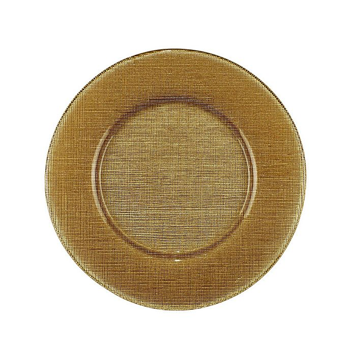 Alternate image 1 for Villeroy and Boch Glass Charger Plate in Gold