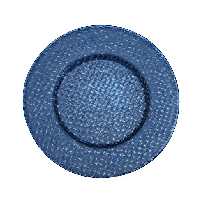 Alternate image 1 for Villeroy and Boch Glass Charger Plate in Deep Blue