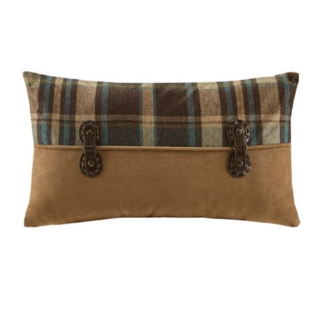 Woolrich 174 Hadley Plaid Pieced Rectangle Throw Pillow In