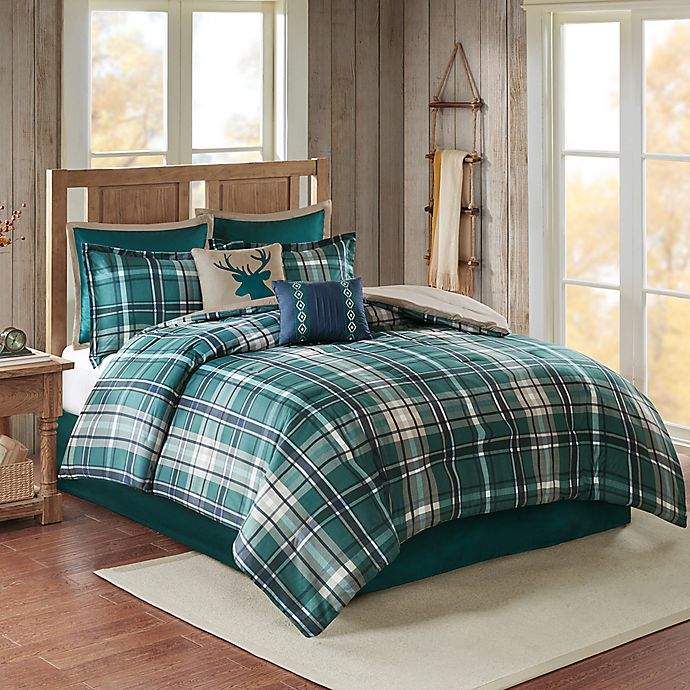 Alternate image 1 for Chapman 8-Piece Full Comforter Set in Green