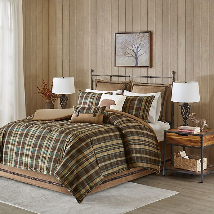 Alternate image 1 for Woolrich® Hadley Plaid King Comforter Set