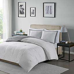 Madison Park Essentials Hayden 2-Piece Reversible Down Alternative Twin Comforter Set in Grey