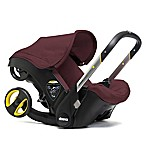 Doona™+ Infant Car Seat/Stroller with LATCH Base in Burgundy/Cherry