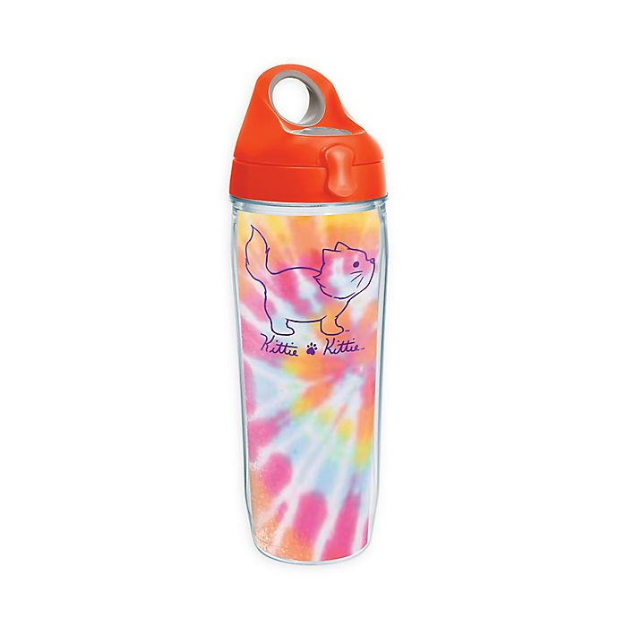 Alternate image 1 for Tervis® Kittie tie Dye Kittie 24 oz. Wrap Water Bottle with Lid