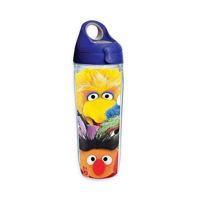 Alternate image 1 for Tervis® Sesame Street Big Faces 24 oz. Wrap Water Bottle with Lid