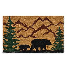 "Design Imports Bear Country 18"" x 30"" Coir Door Mat in Tan"