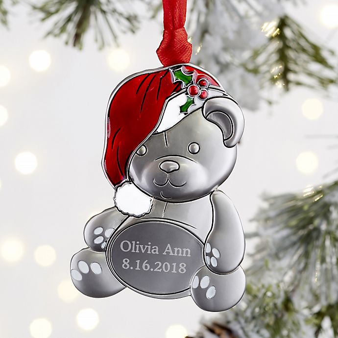 My First Christmas.My First Christmas Personalized Teddy Bear Ornament