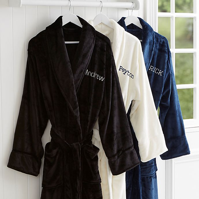 Alternate image 1 for Just For Him Embroidered Name Fleece Robe