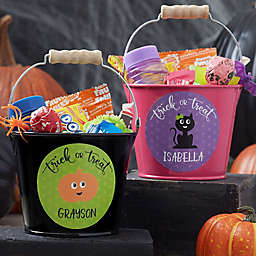 Halloween Character Personalized Treat Bucket
