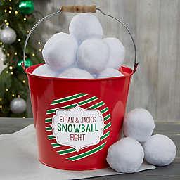 Indoor Snowball Fight Personalized Metal Bucket