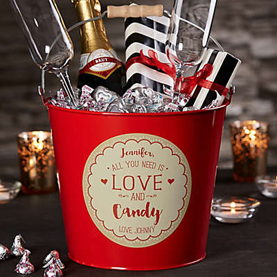All You Need Is Love And…Personalized Metal Gift Bucket