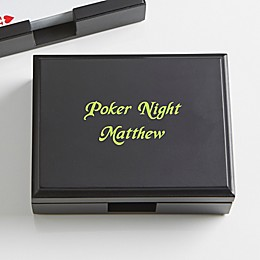 You Name It! Personalized Wood Playing Card Box