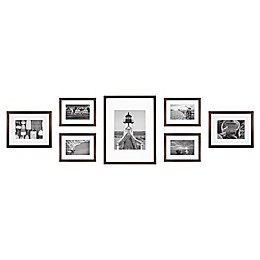 7-Piece Gallery Wood Picture Frame Set in Walnut