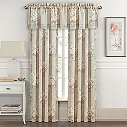 Royal Court Eleanor 84-Inch Rod Pocket Window Curtain Panel Pair in Natural