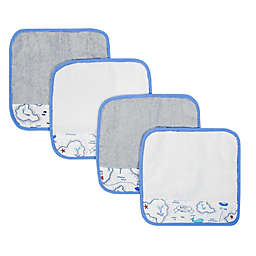 Just Born® Map 4-Pack Washcloths in Grey