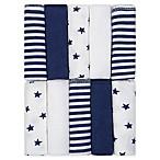 Just Born® Pom Pom 10-Pack Terry Washcloths in Navy/White