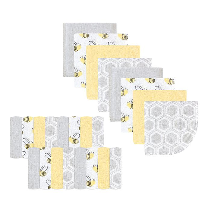 Alternate image 1 for Luvable Friends Bee 24-Pack Washcloths in Yellow