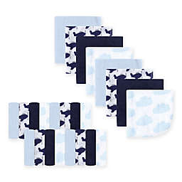Luvable Friends® 24-Pack Airplane Washcloths in Blue